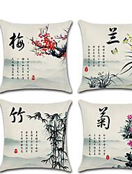 cheap -1 pcs Linen Pillow Cover, Graphic Prints Contemporary Classic Fashion Throw Pillow