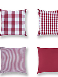 cheap -1 pcs Cotton / Linen Pillow Cover, Plaid / Check Contemporary Classic Fashion Throw Pillow