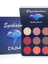 cheap -DNM 9 Colors Eye Shadow Glitter Eye Makeup Shimmer Bling Diamond Metallic Matte Shimmering Eyeshadow Palette Cosmetic.