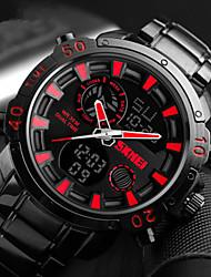 Недорогие -SKMEI Муж. электронные часы Японский Цифровой Титановый сплав Черный 30 m Защита от влаги Календарь Секундомер Аналого-цифровые На каждый день - Белый Красный Синий Два года Срок службы батареи