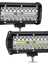 cheap -2pcs 4 inch 72W 4 Row LED Strip Lights Off-Car Top Refit Light Bar Working Lamp