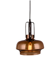 cheap -1-Light 24 cm Matte / Creative / Adjustable Pendant Light Glass Glass Artistic / Chic & Modern 110-120V / 220-240V