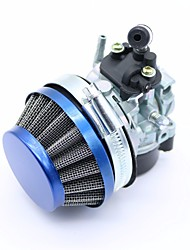 cheap -1 Set Mini Blue Air Filter  Racing Carb Carburetor Assembly for 37 49 60 80CC 2 Stroke Gas Motorized Bike