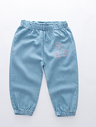 cheap -Kids Boys' Active Basic Solid Colored Embroidered Cotton Jeans Light Blue