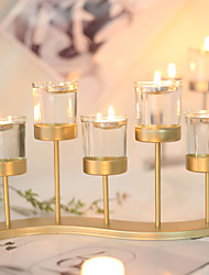 cheap -Modern Contemporary / Simple Style Stainless Steel / Stainless steel Candle Holders Candlestick / Candelabra 1pc, Candle / Candle Holder