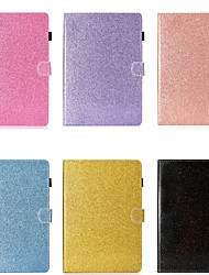 cheap -Case For Samsung Galaxy Samsung Tab A 10.1(2019)T510 Card Holder / Shockproof / with Stand Full Body Cases Solid Colored / Glitter Shine Hard PU Leather