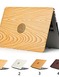 cheap -Wood Grain Cover Case For MacBook Pro Air 11-15 Computer Case 2018 2017 2016 Release A1989 / A1706 / A1708 With Touch Strip PVC Hard Shell