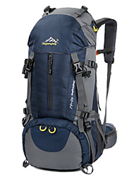 cheap -50 L Hiking Backpack Rucksack Breathable Straps - Waterproof Breathable Waterproof Zipper Wear Resistance Outdoor Camping / Hiking Hunting Fishing Nylon Oxford Black Navy Blue Green / Yes