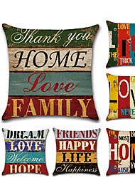 cheap -1 pcs Linen Pillow Cover, Word / Phrase 3D Print Classic Fashion Throw Pillow
