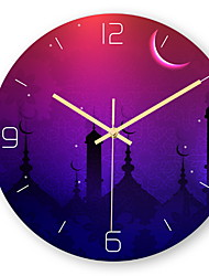 cheap -Modern Style Acrylic Round Indoor / Outdoor Battery Decoration Wall Clock Yes Mirror Polished No