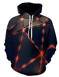 cheap -Men's Hoodie 3D Hooded Basic Rainbow US32 / UK32 / EU40 US34 / UK34 / EU42 US36 / UK36 / EU44 US38 / UK38 / EU46 US40 / UK40 / EU48