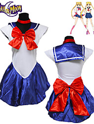 cheap -Inspired by Sailor Moon Cosplay Anime Cosplay Costumes Japanese Cosplay Suits Solid Colored Sleeveless Dress / Gloves / Headwear For Women's / Neckwear / Neckwear