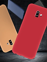 cheap -Case For Samsung Galaxy J6 (2018) / J6 Plus / J5 (2017) Shockproof / Ultra-thin / Frosted Back Cover Solid Colored Soft TPU