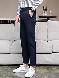 abordables -Homme Basique Costume / Chino Pantalon - Couleur Pleine Noir Gris Foncé Bleu Marine 29 30 31