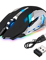 cheap -led wireless optical gaming mouse rechargeable x7 high resolution mouse