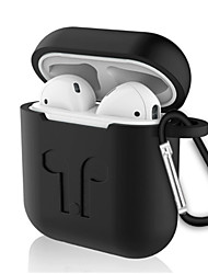 cheap -Qi Wireless Charging Cover Case / Ear Hooks Simple Style Apple Airpods Water Proof Scratch-proof Silicon Rubber