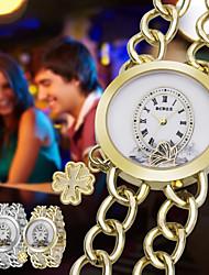 cheap -ASJ Women's Bracelet Watch Fashion Elegant Silver Gold Alloy Japanese Japanese Quartz Gold White Casual Watch 1 pc Analog One Year Battery Life