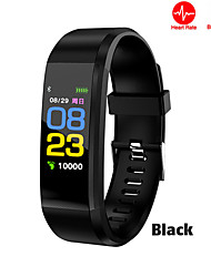 cheap -115Plus Color Screen Smart Bracelet Support Blood Pressure Exercise Heart Rate Monitoring