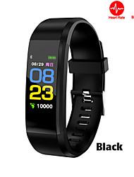 Недорогие -115plus цветной экран умный браслет поддерживает мониторинг артериального давления упражнения сердечного ритма