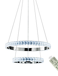cheap -1-Light Round Ring Crystal Chandeliers Modern Dining Room Lamp Hanging Pendant Lights Pendants Lamps Circle Lighting Ceiling Lamps Indoor Fixtures  110-120V / 220-240V