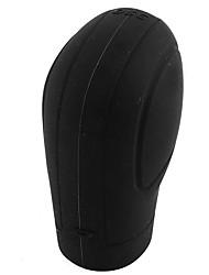 cheap -Soft Silicone Nonslip Car Shift Knob Gear Stick Cover Protector with Trepanning Design - Black