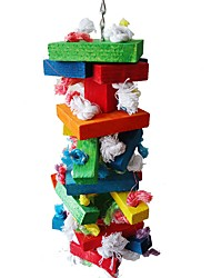 cheap -Bird Perches & Ladders Pet Friendly Focus Toy Felt / Fabric Toys Bird Wood 43 cm