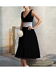 cheap -Women's A Line Dress Black Silver Blushing Pink XXXL XXXXL XXXXXL
