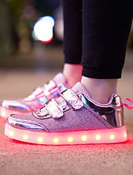 cheap -Boys / Girls USB Charging  LED / LED Shoes Mesh Sneakers Gold / Pink / Silver Fall / Winter / Rubber