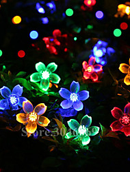 cheap -10m 100 LEDs Cherry Blossom String Lights Batteries Powered Christmas Festival Indoor Decoration Outdoor Courtyard Wedding Lighting Decorative
