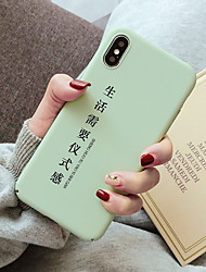 cheap -Case For Apple iPhone XS / iPhone XR / iPhone XS Max Frosted / Pattern Back Cover Word / Phrase Hard Plastic