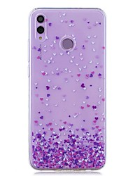 cheap -Case For Huawei Honor 8X / Huawei P Smart (2019) Pattern / Transparent Back Cover Purple Heart Soft TPU for Mate20 Lite / Mate10 Lite / Y6 (2018) / P20 Lite / Nova 3i / P Smart / P20 Pro