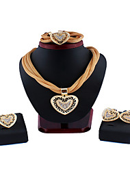 cheap -Women's Bridal Jewelry Sets Braided Fashion Earrings Jewelry Gold / Silver For Party Evening Gift Festival 1 set