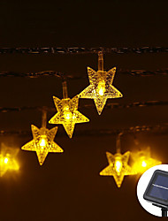 cheap -5m String Lights 20 LEDs Warm White RGB White Waterproof Solar Party Solar Powered