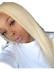 cheap -Human Hair Lace Front Wig Free Part style Brazilian Hair Straight Blonde Wig 130% Density Women Women's Long Others Clytie