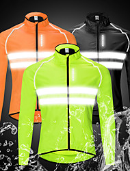 cheap -WOSAWE Men's Cycling Jacket Winter Bike Windbreaker Top Waterproof Windproof Breathable Sports Black / Orange / Green Mountain Bike MTB Road Bike Cycling Clothing Apparel Bike Wear / Long Sleeve