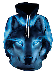 cheap -Men's Hoodie Jacket 3D Hooded Basic Hoodies Sweatshirts  Royal Blue
