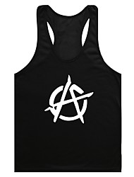 cheap -Men's Daily Wear EU / US Size Tank Top - Graphic Print Black / Sleeveless
