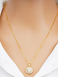 cheap -Women's Pendant Necklace Fashion Zircon Gold Plated Gold Silver 45 cm Necklace Jewelry 1pc For Daily Festival