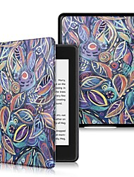 Недорогие -Кейс для Назначение Amazon Kindle Lite (2019) / Kindle PaperWhite 4 2018 Защита от удара / Флип / Ультратонкий Чехол дерево Твердый Кожа PU