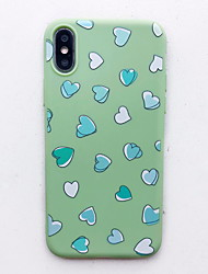 cheap -Case For Apple iPhone XS / iPhone XR / iPhone XS Max Pattern Back Cover Heart Soft Silicone