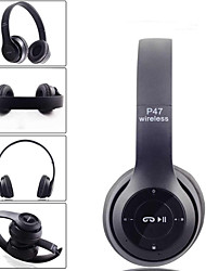 cheap -multifunctional wireless p47 bluetooth v4.1 stereo headset, compatible with 3.5 mm audio cable, over ear foldable headset for smart phones tablets and computers, matte colors