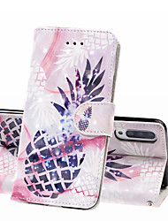 Недорогие -Кейс для Назначение SSamsung Galaxy A6 (2018) / A6+ (2018) / Galaxy A7(2018) Кошелек / Бумажник для карт / Защита от удара Чехол Продукты питания Твердый Кожа PU