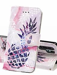 Недорогие -Кейс для Назначение Huawei Huawei P20 Pro / Huawei P20 lite / Huawei P30 Кошелек / Бумажник для карт / Защита от удара Чехол Продукты питания Твердый Кожа PU