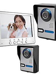 cheap -815FA21 7 inch wired video intercom doorbell two outdoor units one indoor unit building video intercom