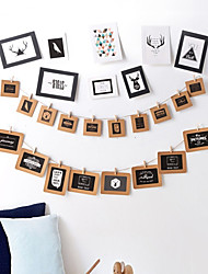 cheap -Modern Style Wood Specification Picture Frames Wall Decorations, 9pcs Picture Frames