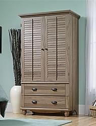 Недорогие -шкаф-купе спальня для хранения или шкаф для телевизора с отделкой коричневого дуба