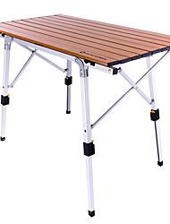 cheap -BEAR SYMBOL Camping Table Anti-Slip Foldable Folding Aluminium for Fishing Camping BBQ Autumn / Fall Winter Brown
