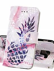 Недорогие -Кейс для Назначение SSamsung Galaxy J6 (2018) / J4 (2018) / Galaxy J4 Plus (2018) Кошелек / Бумажник для карт / Защита от удара Чехол Продукты питания Твердый Кожа PU