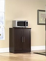 Недорогие -современная кухня, шкаф для хранения микроволнового шкафа из темного дуба