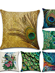 cheap -1 pcs Linen Pillow Cover, 3D Contemporary Classic Fashion Throw Pillow